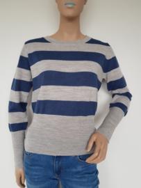 Wollen trui Spijkers & Spijkers-SIS. Mt. XS. Grijs/blauw.