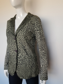 Blazer Enjoy. Mt. M. Groen/dierenprint.