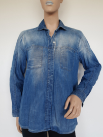 Spijkerblouse 7 For All Mankind. Mt. XS. Blauw.