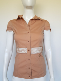 Elisabetta Franchi blouse. Mt. 44. Nude.