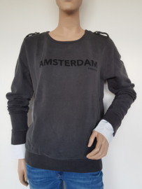 Sweater 10DAYS. Mt. 1. Antraciet/Amsterdam print.