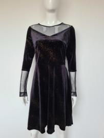 Vintage Chic jurk. Mt. 40. Zwart/velours.