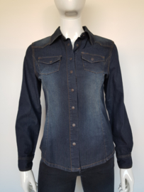 Denimblouse New Star. Mt. S. Blauw.