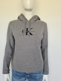 Calvin Klein jeans hoodie. Mt. M. Grijs.