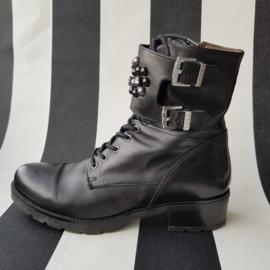 Nero Giardini biker boots. Mt. 41. Zwart/leer.