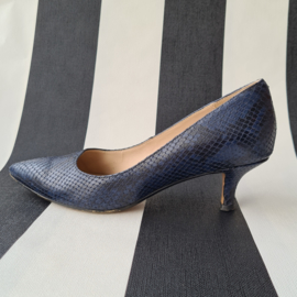 Clarks pumps. Mt. 37. Blauw/leer