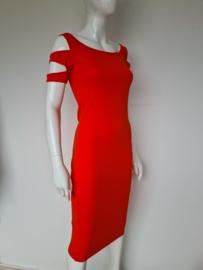 Supertrash jurk. Mt. 36. Oranje/tricot.
