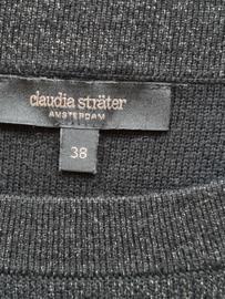 Claudia Sträter trui. Mt. 38. Zwart/zilver.