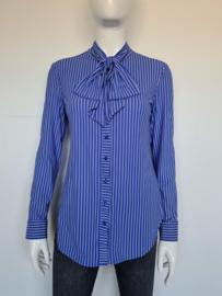Studio Anneloes blouse met striklint. Mt. S. Lavendel/travelstof.