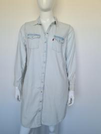 Levi's denim blouse jurk. Mt. XL. Lichtblauw.