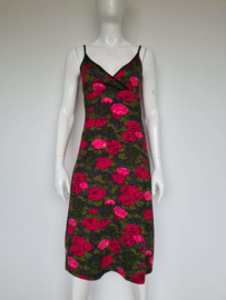 King louie jurk. Mt. M/L. Zwart/bloemenprint.