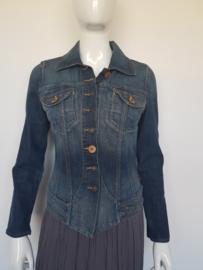 Denim jacket Nikko Jeans Object. Mt. M. Donkerblauw.