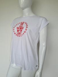 Penn & Ink shirt. Mt. XL. Wit/tekst.