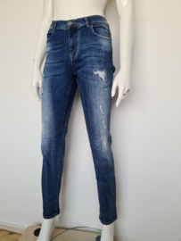 Corel jeans. Mt. 40. Blauw/damaged.