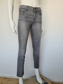 7 For All Mankind High waist cropped jeans. Mt. 27. Grijs.