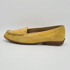 Gabor loafers. Mt. 5. Mosterdgeel/suède.