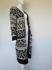 Summum Woman vest. Mt. XL. Zwart/Crème.