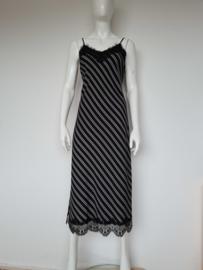 Kocca maxi dress. Mt. 40. Zwart/wit gestreept.