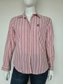 Donaldson blouse. Mt. 42. Gestreept.