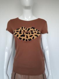 T-shirt May. Mt. M/L. Bruin/mond.