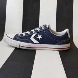 Converse All Star lage sneakers. Mt. 40.  Blauw/wit.