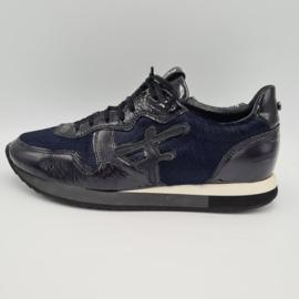 Floris van Bommel sneakers. Mt. 38. Blauw/zwart.