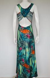 Elissa maxi dress. Mt. XS. Groen/print.
