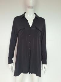 Claudia Sträter blouse. Mt. 36. Zwart.