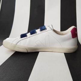 Sneakers Veja. Model Esplar 3 Lock. Mt. 40. Wit/blauw/roze.