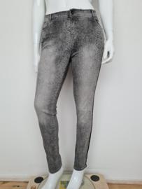 Summum Woman jeans. Mt. 40. Grijs/dierenprint.