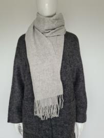 Scotch & Soda shawl. Lichtgrijs/ wol.