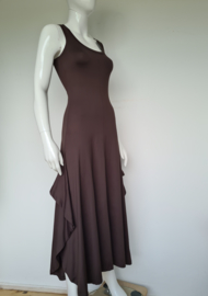 Losh maxi dress. Mt. 1. Bruin/travelstof.