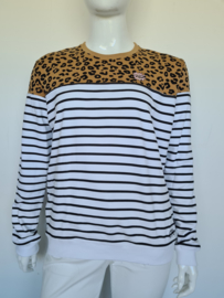 Colourful Rebel sweater. Mt. XL. Gestreept/dierenprint.
