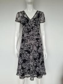 MEXX jurk. Mt. L. Grijs/zwart/print.