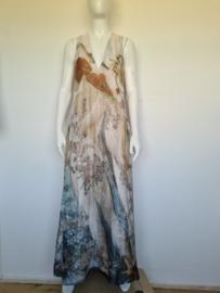 H&M Conscious zijden maxi dress. Mt. 38. All over print.