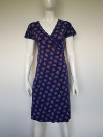 King Louie cross dress. Mt. S. Blauw/bloemenprint.