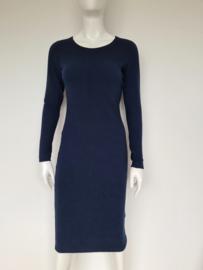 Vanilia pencil dress. Mt. 36. Donkerblauw/ribbels