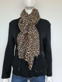 Alix The Label shawl. Langwerpig model. Dierenprint.