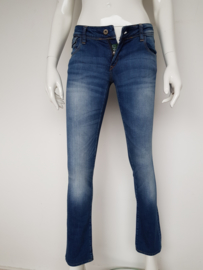 Kuyichi Lisa low slim jeans. Mt. 25/32. Blauw.