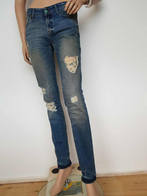 Jeans 7 For All Mankind. Mt. 26. Blauw/damaged.