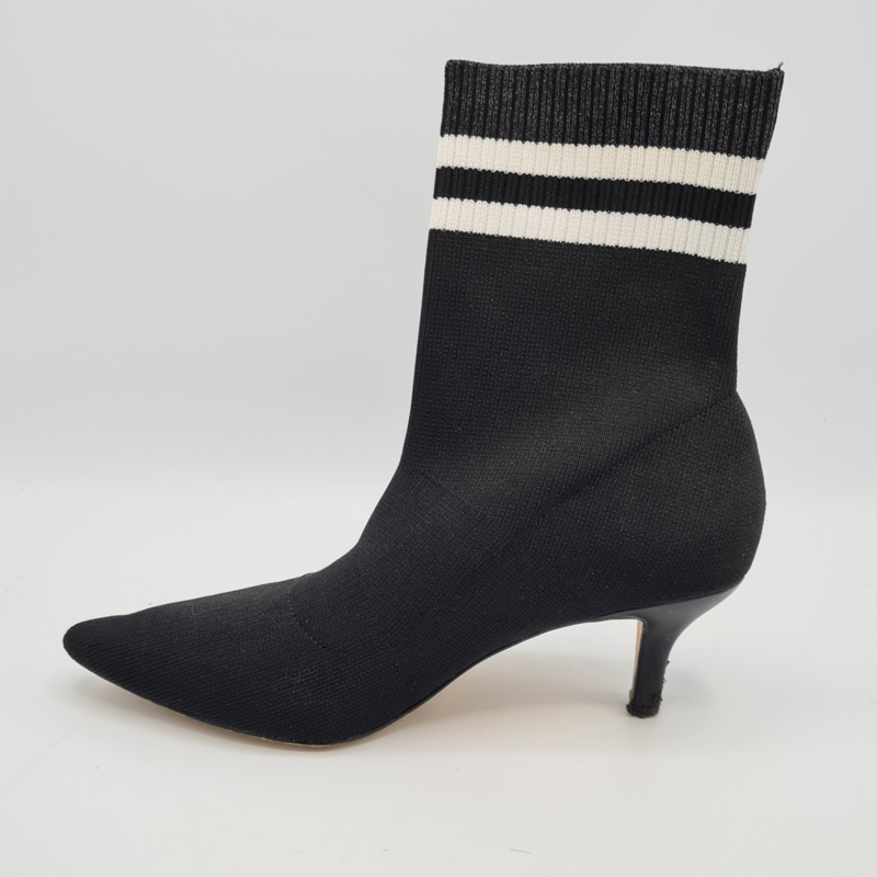 La Strada sock boots. Mt. 38. Zwart/wit.