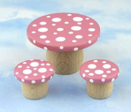 Droomtafeltje met krukjes Elfenroze