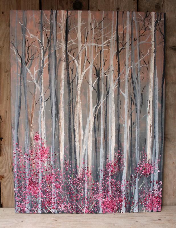 """""""Belofte"""" 50 x 70 cm olie en -acryl op doek"""