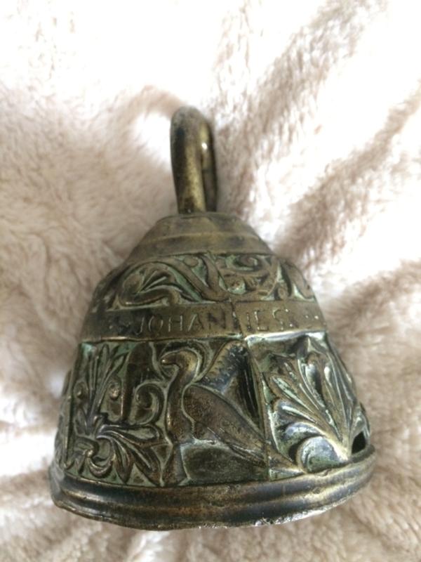 Antieke Bronzen Bel.Antiek Koperen Bel Tafelbel Lucas Marcus 4 Apostelen Koper