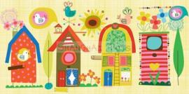 KK ( postcard backyard birdhouse )
