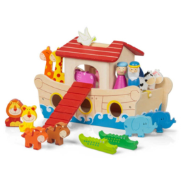 H 076 ( wooden noah's ark set )
