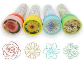 GA 027F ( kaleidoscope self - inking stamp flower ) ----- 24 pcs in display