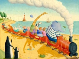 KK ( postcard animals in the train )