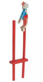 H 019 ( wooden rolling acrobatic monkey )