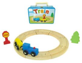 H 074 ( train playset suitcase )